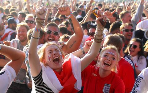 Inglismaa jalgpallifännid elavad kaasa Venemaal toimuvale MM-ile.