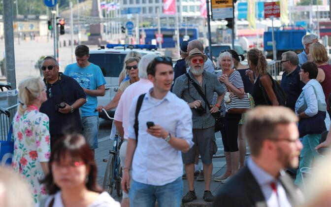 Хельсинки во время встречи Трампа с Путиным.