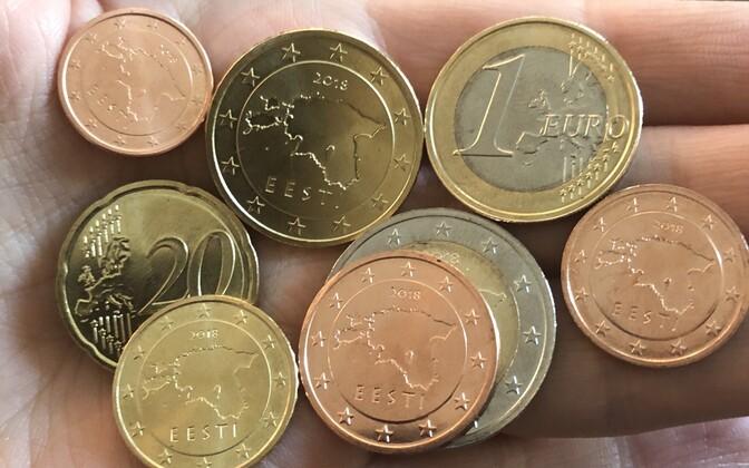 Euromündid aastaarvuga 2018.