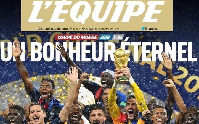 L'Equipe'i esimaspäevane esikülg
