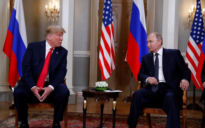 Встреча Трампа и Путина в Хельсинки.