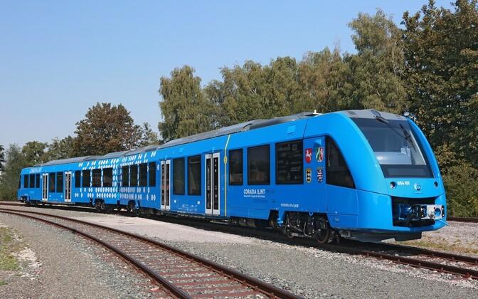 Поезд на водородных элементах.