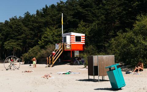 Пляж в Пирита.