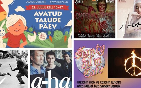 Culture.ee releases a roundup of cultural event recommendations for the week every Monday.