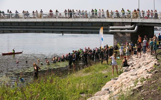 Pärnu triatloni start