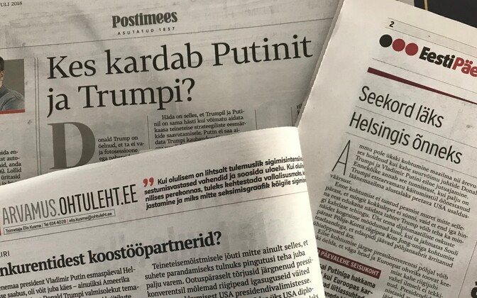 Tuesday's editorial headlines in Estonia.