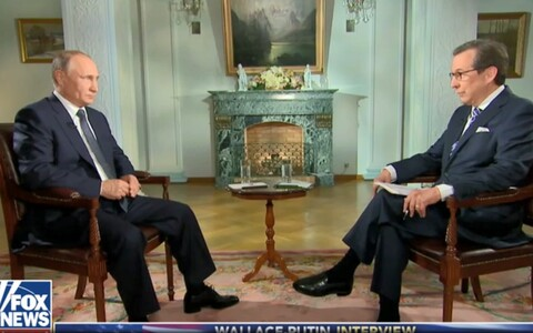 Vladimir Putin with Fox News' Chris Wallace on Monday.