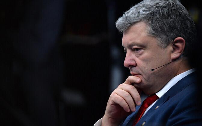 Ukraina president Petro Porošenko Brüsselis NATO tippkohtumisel.