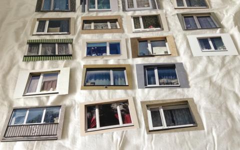 """I koht: """"Windows Exhibitions"""", 2017. 20 postkaardimõõtmetes fotot"""