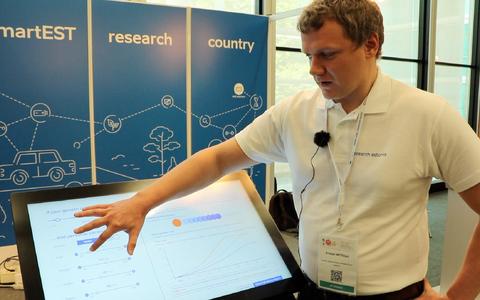 Kristjan Metsalu tutvustas teadusfoorumil ESOF Tartu Ülikoolis loodud uudset diabeedikalkulaatorit.