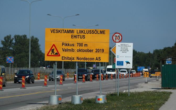 Teetöödest tingitud liikluskorralduse muutused Kanamal