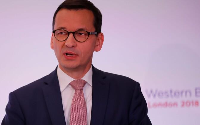 Poola peaminister Mateusz Morawiecki.