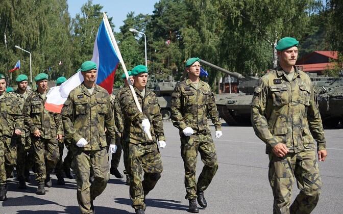 Tšehhi sõdurid Lätis.