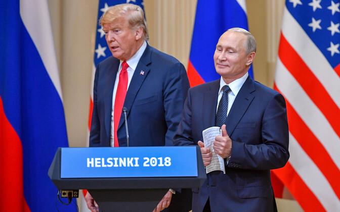 Donald Trump ja Vladimir Putin 16. juulil Helsingis.