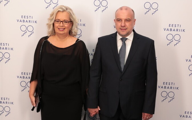 Ruth Lausma Luik and husband Jüri Luik (Pro Patria), the current Minister of Defence.