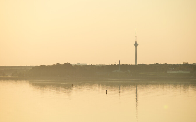 Early morning haze in Tallinn.