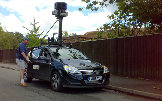 Google Street View car in the UK.