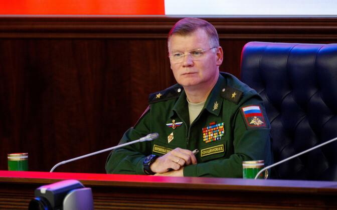 Vene kaitseministeeriumi pressiesindaja kindralmajor Igor Konašenkov.