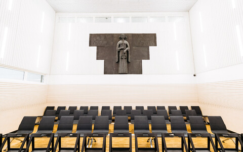 Courtroom at the new Harju County Courthouse.