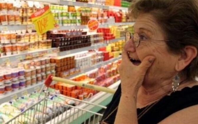 Жители Эстонии вынуждены мириться с ростом цен.