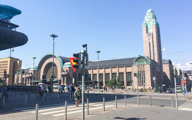Железнодорожный вокзал в Хельсинки. Иллюстративное фото.