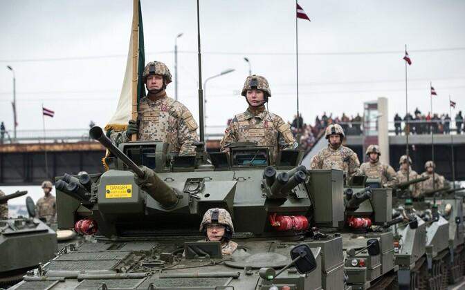 Läti relvajõudude paraad.