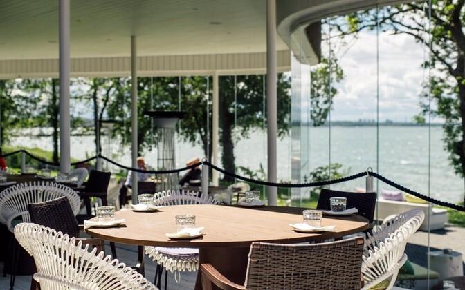 NOA Restaurant's sea view.