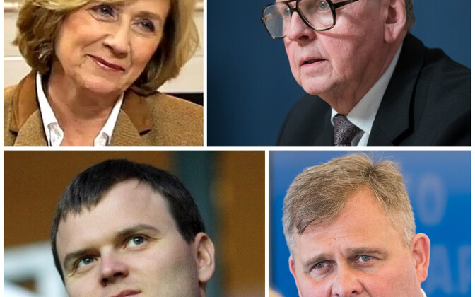 Urve Tiidus, Enn Eesmaa, Madis Kallas, Raivo Aeg.