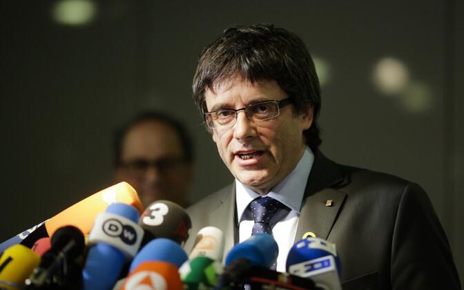 Kataloonia iseseisvuslaste liider Carles Puigdemont.
