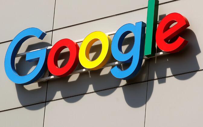 Google'i logo ettevõtte Euroopa insenerikeskuses Zürichis.