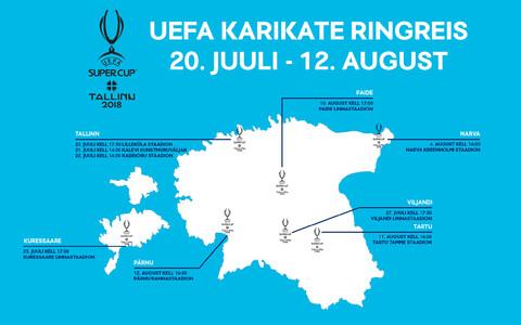 Трофи-тур затронет семь городов Эстонии.