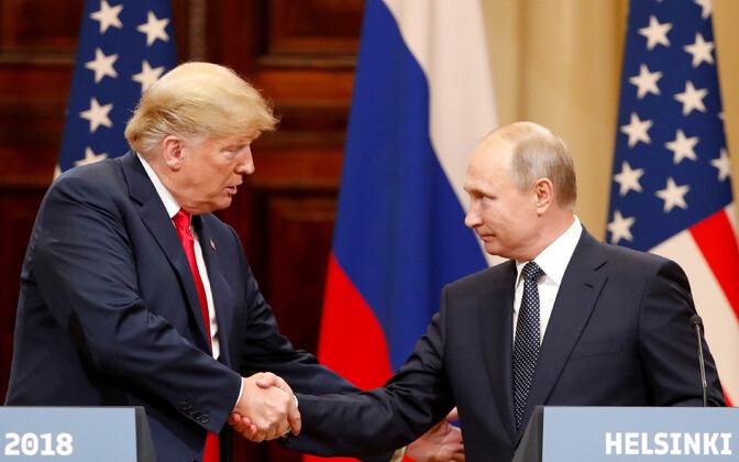 Donald Trump ja Vladimir Putin 16. juulil Helsingi tippkohtumisel.