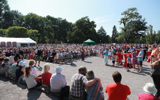 Гала-концерт в Кадриорге в 2018 году.