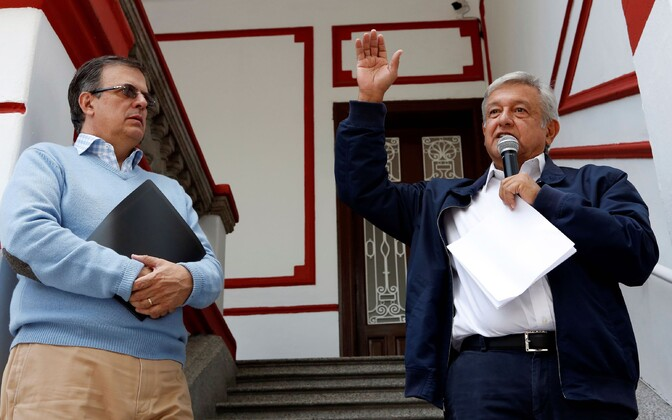 Tulevane Mehhiko välisminister Marcelo Ebrard ja presidendiks valitud Andrés Manuel López Obrador.