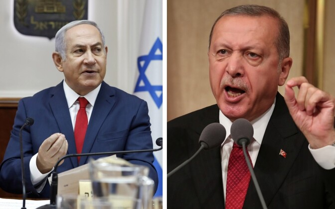 Iisraeli peaminister Benjamin Netanyahu ja Türgi president Recep Tayyip Erdogan.