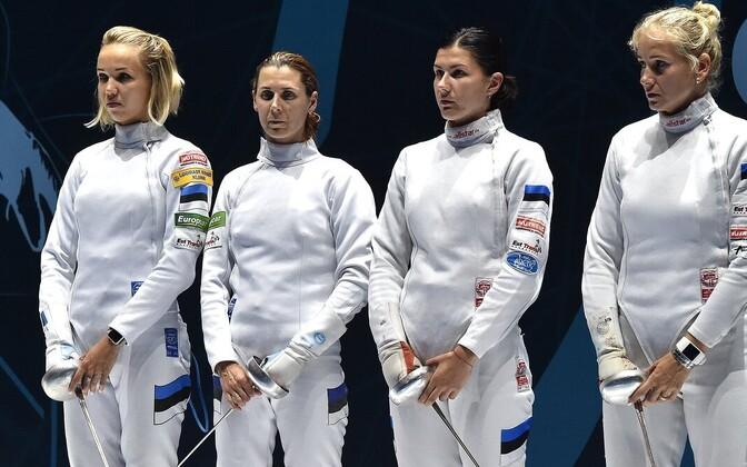 Eesti epeenaiskond: Erika Kirpu (vasakult), Irina Embrich, Julia Beljajeva ja Kristina Kuusk