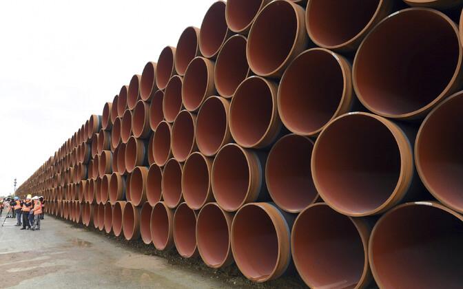 Nord Stream 2 torud Mukraini sadamas.