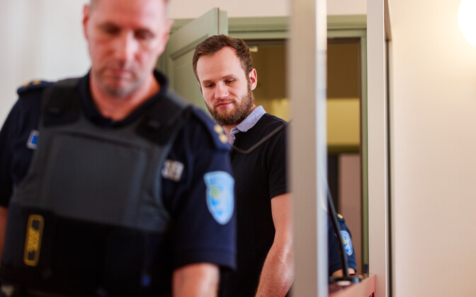 Taavi Sõnajalg in court on Wednesday. 25 July, 2018.