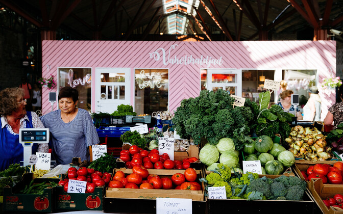 Fresh produce for sale at Baltic Station Market.
