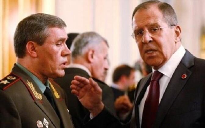Vene kindralstaabi ülem Valeri Gerassimov ja välisminister Sergei Lavrov, arhiivifoto.
