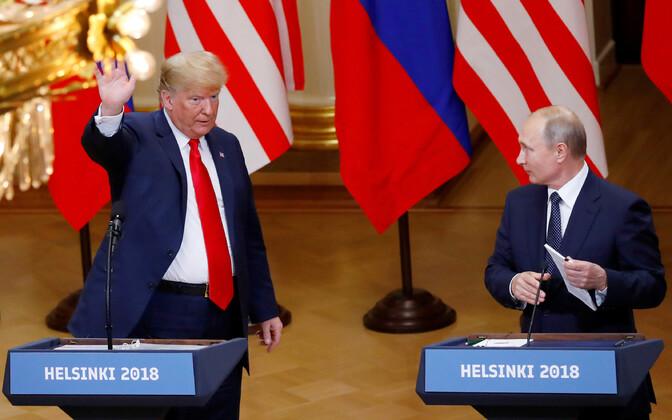 USA president Donald Trump ja Venemaa president Vladimir Putin Helsingis.