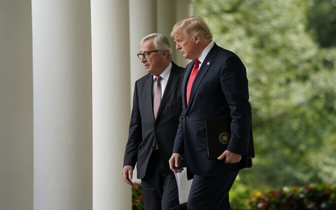President of the European Commission Jean-Claude Juncker and US President Donald Trump in Washington on Wednesday. 26 July, 2018.