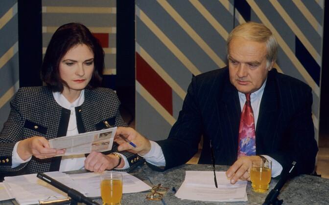 Katrin Saks ja Mati Talvik 1994. aastal