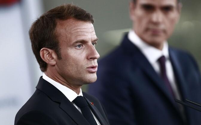 Emmanuel Macron ja Pedro Sanchez.