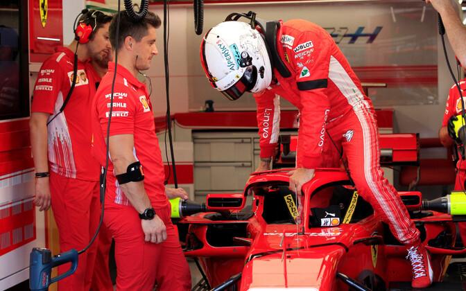 Ferrari piloot Sebastian Vettel