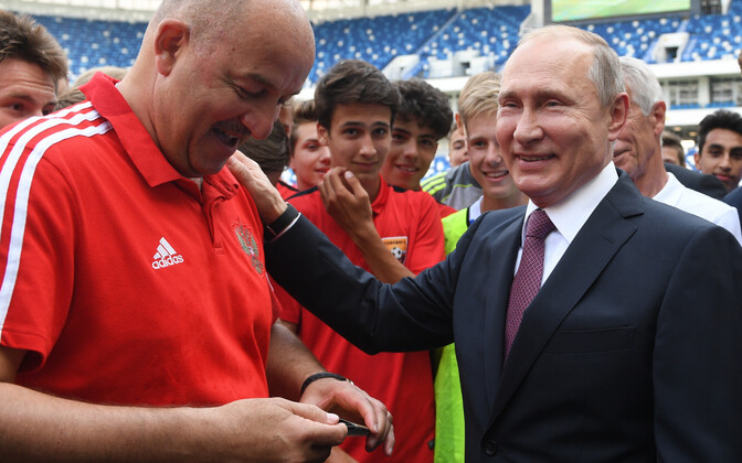 Stanislav Cherchesov ja Venemaa president Vladimir Putin