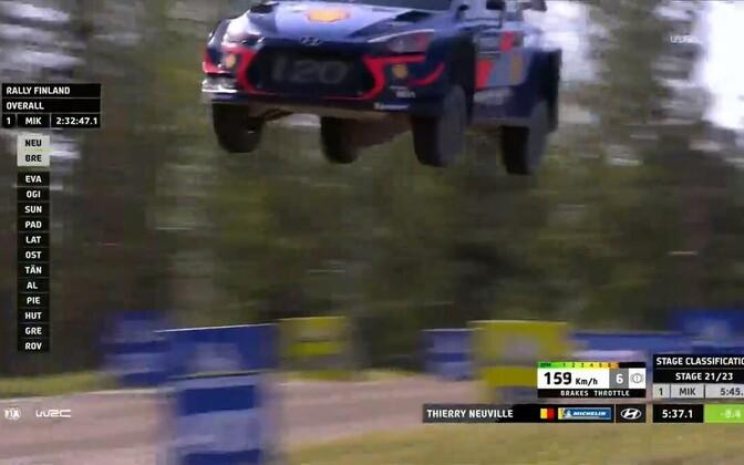 Thierry Neuville Soome MM-ralli 21. katsel