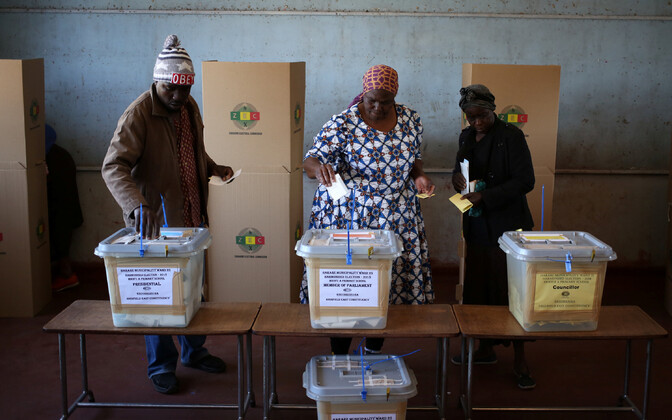 Valimisjaoskond Harares.