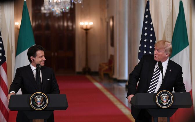 Giuseppe Conte ja Donald Trump ühisel pressikonverentsil 30. juulil.