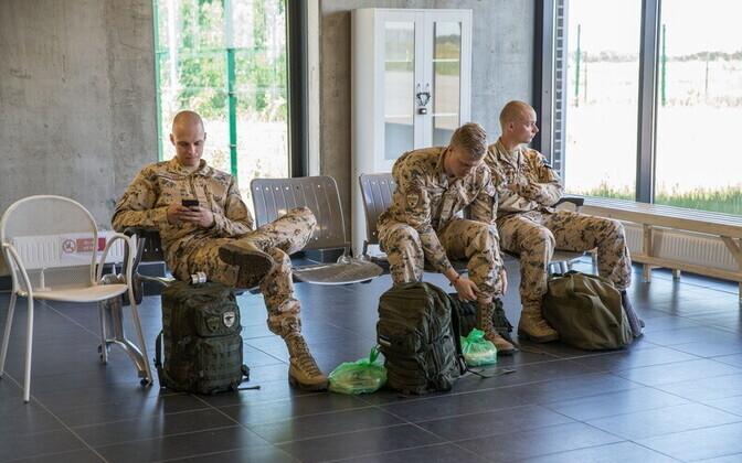 Военнослужащие Сил обороны Эстонии.